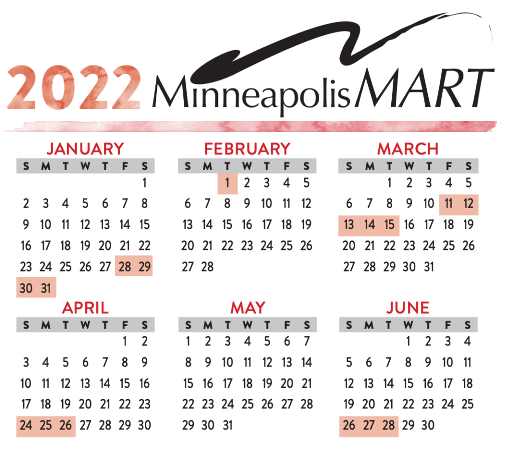 2022 mpls mart calendar